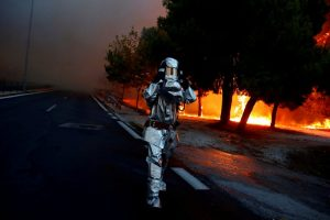 Yunanistan Atina yangın doğal afet