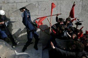yunanistan Atina polis gösteri protesto